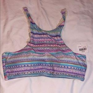 Crochet back bikini top